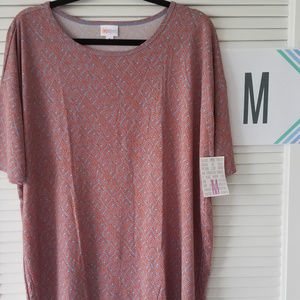 New LuLaRoe Irma Top-Orange/Gray